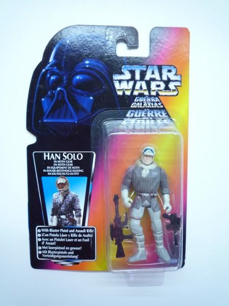 HASBRO Star Wars Hist. Figur Han Solo in Hoth Gear Blaster and Rifle