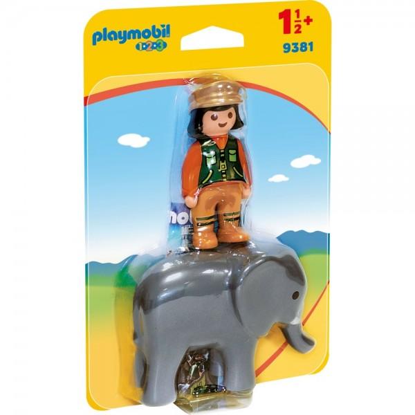 Playmobil® 123 Tierpflegerin mit Elefant 9381
