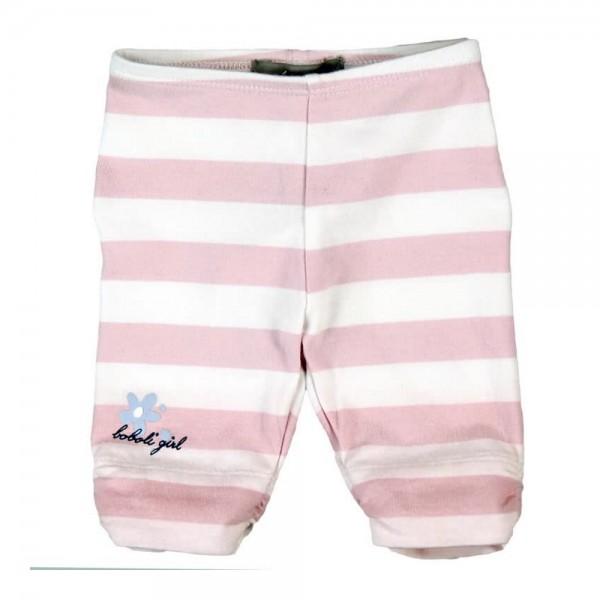 Bóboli Baby Mädchen Leggings rosa weiß gestreift Gr. 62 - 92