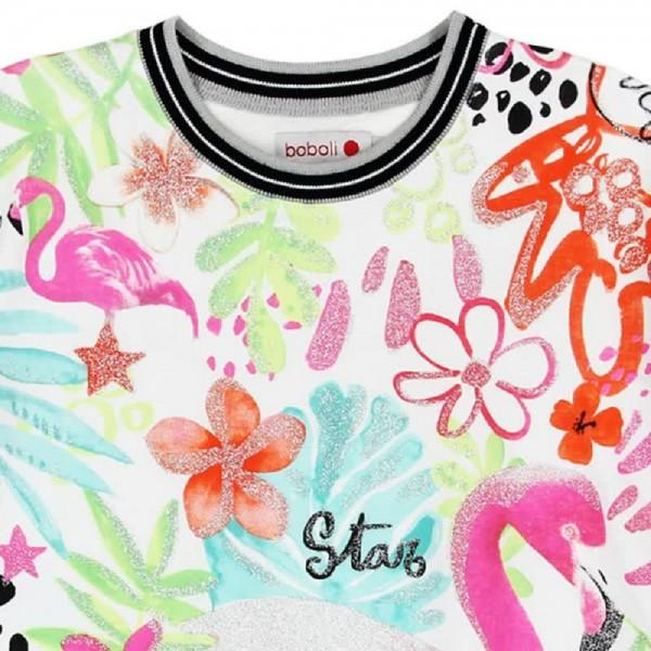 Bóboli T-Shirt-Kleid Glitter Flamingo Gr. 98 - 164