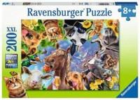 Ravensburger Kinder Puzzle XXL 200 Teile Lustige Bauernhoftiere