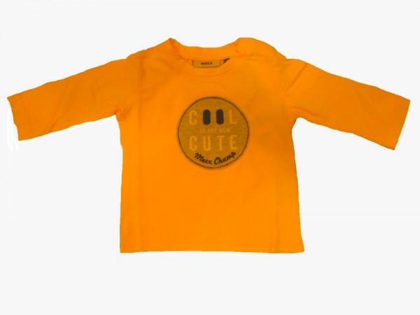 MEXX Jungen Baby Langarmshirt orange pop fluorescent Gr. 50 - 86