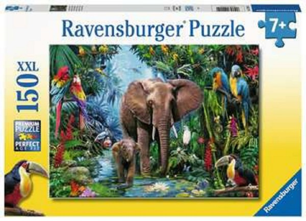 Ravensburger Kinder Puzzle XXL 150 Teile Dschungelelefanten