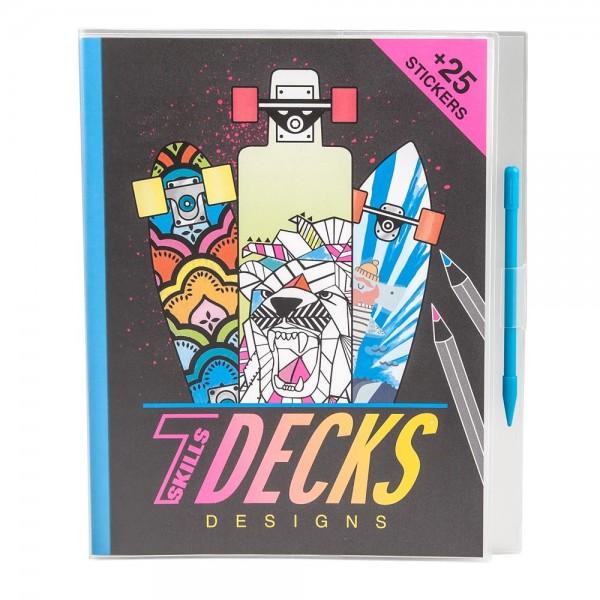 Depesche 7 Skills Decks Designs Malbuch