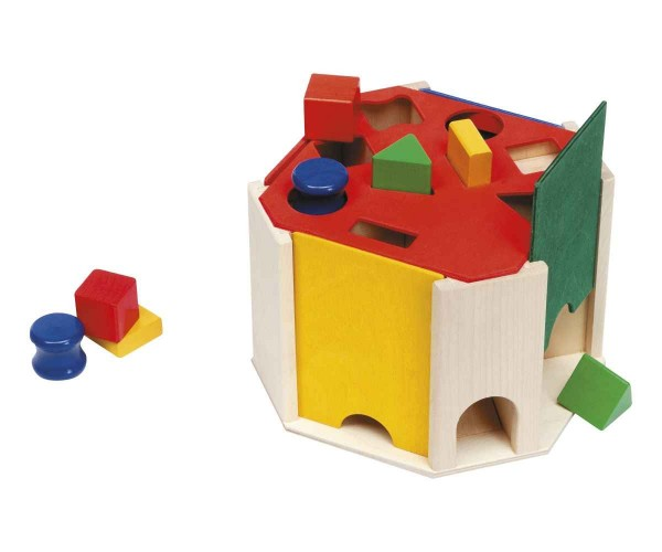Selecta Holzspielzeug Sortierbox Quatrino