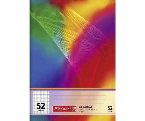 Oktavheft A6 kariert Lineatur 52 32 Blatt
