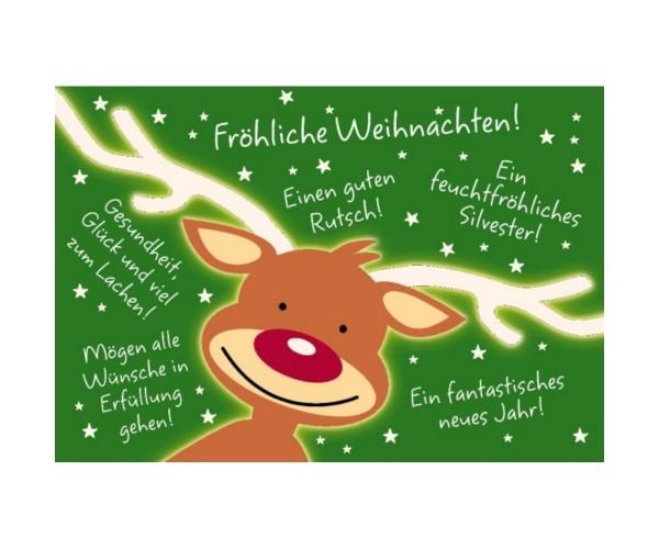 X-mas Postkarte Der Elch Fröhliche Weihnachten! Einen guten ...