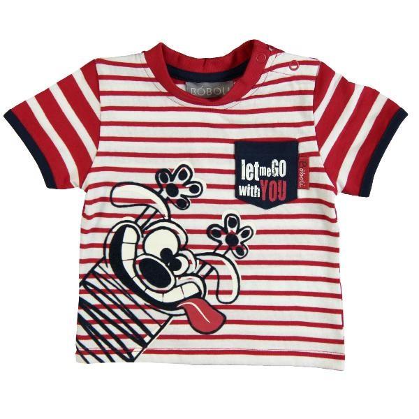 Bóboli Jungen T-Shirt Comic-Hund Gr. 86 - 104