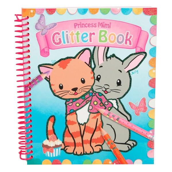 Princess Mimi Glitter Book Malbuch
