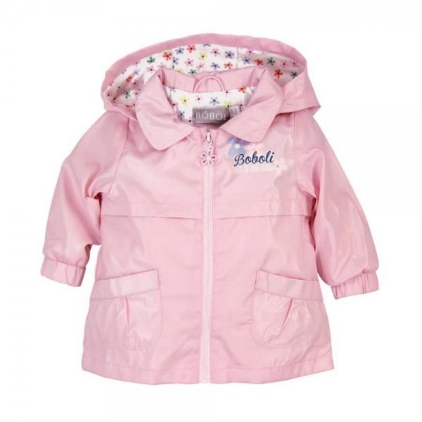 Bóboli Baby Mädchen Regen-Jacke mit Kapuze rosa Gr. 62 - 92